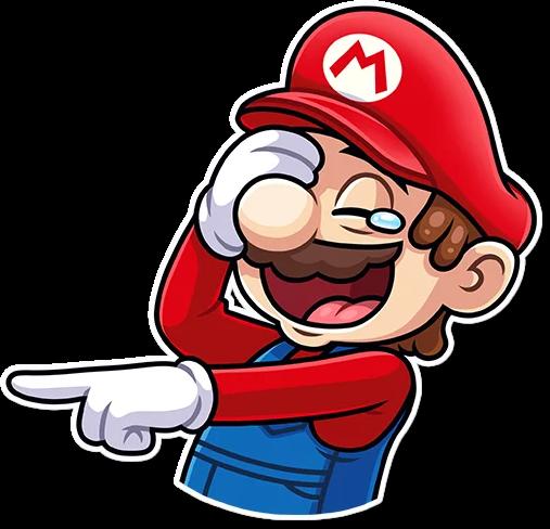 Bild von Super Mario im Comic-Stil.