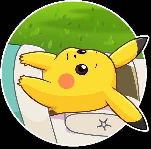 Bild vom Pokémon Pikachu im Comic-Stil.