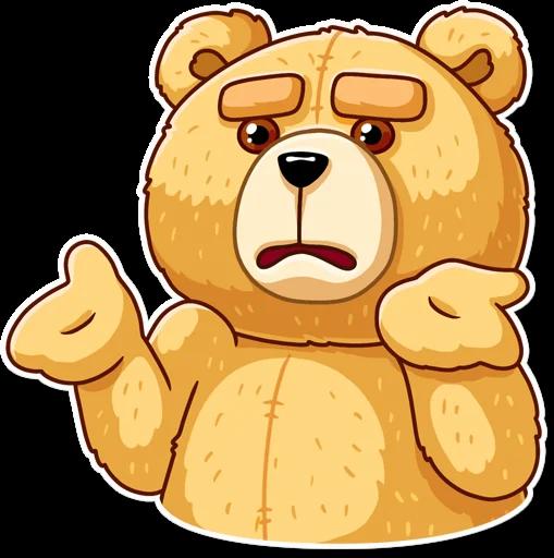 Bild von Tedd dem Teddy-Bären im Comic-Stil.